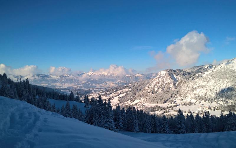 Blick auf den Hirschberg   Haus Alpenblick in Oberjoch
